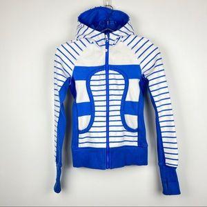 lululemon striped scuba hoodie - XS
